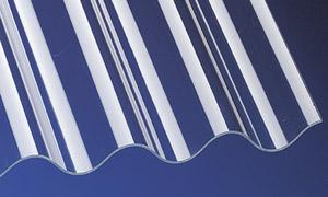 PVC Wellplatten Lichtplatten Profilplatten P5 Sinus 177/51 klar