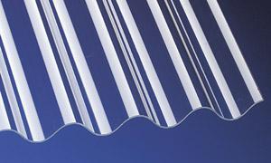 PVC Wellplatten Lichtplatten Profilplatten P8 Sinus 130/30 klar