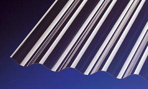 PVC Wellplatten Lichtplatten Profilplatten Sinus 76/18 bronce