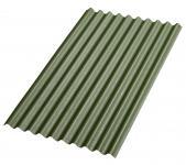 Bitumenwellplatten Set grün Compact: 8 Stück je 1000 x 750 mm, Nägel und Dichtscheiben