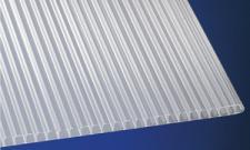 Polypropylen Stegplatten 8 mm weiß-opal beidseitig UV-stabilisiert 2 x 1 m
