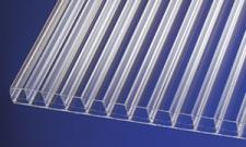 Polycarbonat Stegplatten 16 mm klar easy clean langlebige Stegdreifachplatten mit eingebauter Selbstreinigung, robust, schlagfest, bruchsicher, hagelfest