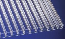 (24,90 EUR/qm) Polycarbonat Stegplatten 16 mm klar robuste, schlagfeste Hohlkammerplatten mit UV-Schutz!