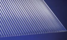 Polycarbonat Universal-Stegplatten für Gewächshäuser 4, 5 mm klar 1500 x 700 mm