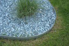 Rasenkante Metall 1180 x 175 x 95 mm einzeln - abgerundete Rasenkanten aus feuerverzinktem Stahlblech