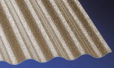Acryl Wellplatten Lichtplatten Profilplatten Sinus 76/18 C-Struktur bronce 3 mm