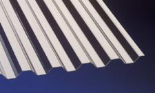 (21, 90 EUR/qm) Acryl Wellplatten Lichtplatten Profilplatten Trapez 76/18 bronce 1, 5 mm