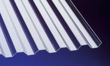 Acryl Wellplatten Lichtplatten Profilplatten Trapez 76/18 klar 1, 5 mm