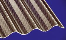 Acryl Wellplatten Lichtplatten Profilplatten Sinus 76/18 wabe bronce 3 mm