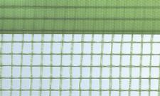 Gitterfolie mit Nagelrand 2, 0 x 50 m Rolle grün-transparent, mit Gitterarmierung, UV-stabilisiert, Abdeckfolie, Gitterplane