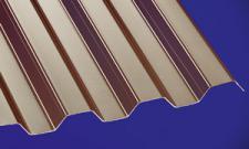 Polycarbonat Wellplatten Lichtplatten Profilplatten Trapez 76/18 bronce