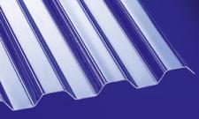 Polycarbonat Wellplatten Lichtplatten Profilplatten Trapez 76/18 klar