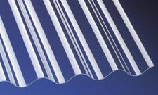 PVC Wellplatten Lichtplatten Profilplatten Sinus 76/18 klar