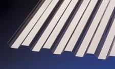PVC Wellplatten Lichtplatten Profilplatten Trapez 70/18 bronce