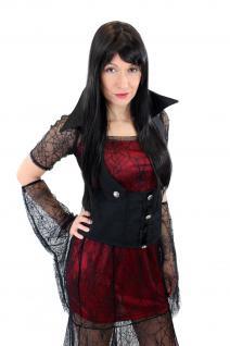 Aufwändig & Sexy Kostüm Kleid Böse Hexe Vampirin Gothic Vamp Witch Märchen L007 - Vorschau 4