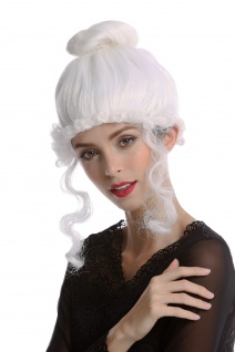 Perücke Dame Karneval historisch Biedermeier Romantik Renaissance Barock weiß