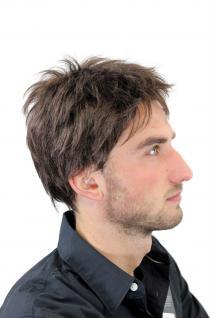 Herrenperücke, Wig, Männer, Men, Braun, Brown, Kurz, Länge: ca. 10 cm, GFW1169-6 - Vorschau 5