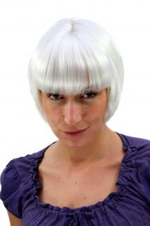 Sexy Perücke Wig Weißblond kurz Bob 20er Twenties Haarersatz 20 cm 7804-B80