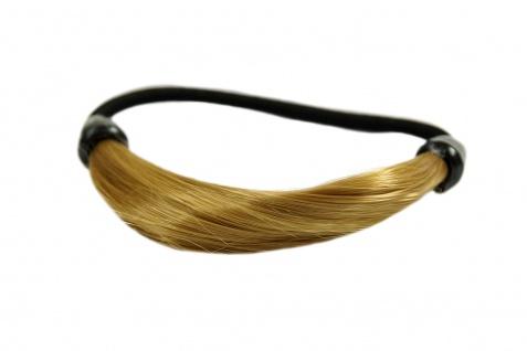 Unsichtbarer Haargummi in Haaroptik Kunsthaar Zopfgummi Hellblond NHA-003B-25