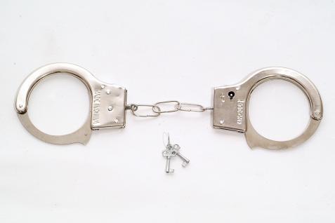 Karneval Scherz & Spaßartikel Handschellen Cuffs Polizist Bulle Domina RH-001 - Vorschau 1