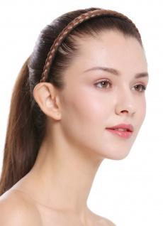 Haarband Haarreif geflochten Tracht traditionell hellbraun braid CXT-004-010