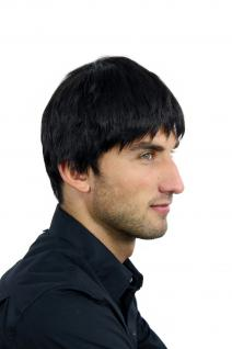 Perücke Herrenperücke Männer kurz schwarz schwarzbraun glatt WL-0204-2 Wig Men - Vorschau 2