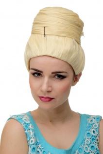 Perücke Damenperücke Beehive Dutt Licht-Blond turban retro 50er 60er GFW2200-88