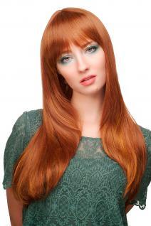 Damen Perücke mit Pony, Rotbraun-Rot-Mix, lang, glatt, ca. 60 cm, 3115-30H144