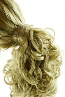 Unsichtbarer Haargummi Haaroptik Kunsthaar Zopfgummi Hell-Aschblond NHA-003B-24
