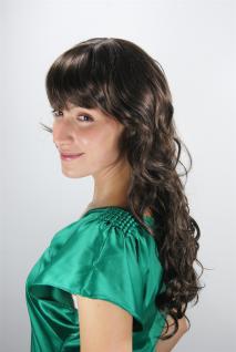 Damenperücke braun gestuft lockig Pony Frisur Haarersatz lang 60 cm 6313-04/05 - Vorschau 2