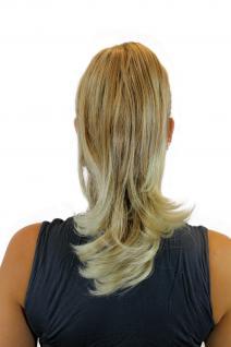 Haarteil/Zopf glatt 35 cm Butterfly-Klammer Blond-Mix 0265-27TKB88 - Vorschau 2