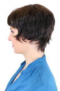 100% Echthaar: Kesse, kurze Damenperücke Dunkelbraun/ Naturfarbe 8019HH-0 - Vorschau 4