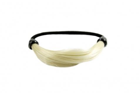 Unsichtbarer Haargummi in Haaroptik Kunsthaar Zopfgummi Hellblond NHA-003B-613