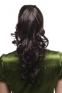 Haarteil Zopf Extension Pferdeschwanz gewellt schwarz schwarzbraun 45cm SA011-2