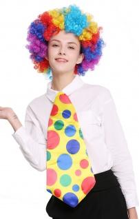 Krawatte riesig Riesenkrawatte Schlips gelb Punkte bunt Clown Zirkus Karneval
