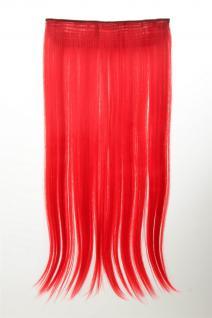 Haarteil Extension breit Haarverlängerung 5 Clips glatt Neonrot YZF-3177-TF2316