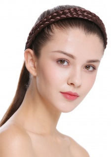 Haarband Haarreif geflochten Tracht traditionell mittelbraun braid CXT-002-008