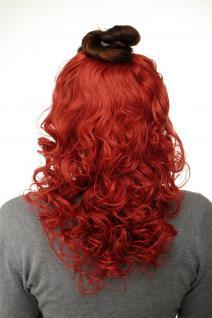Haarteil Halbperücke Clip-In Haarverlängerung Locken Rot-Mix 40cm H9312-137
