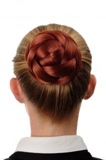 Dutt Haarteil aufwendig geflochten Haarknoten Brautschmuck Kupfer-Rot Q399D-350