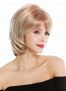 Perücke Damenperücke kurz Scheitel gescheitelt Blond gesträhnt 720-C-27T88