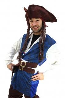 Kostüm Pirat Herren Karibik Freibeuter Piratenkostüm Jack Carribean Pirates K19 - Vorschau 2