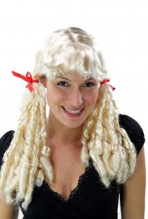 Perücke Damen Fasching Cosplay Korkenzieherlocken Locken Lolita Zöpfe blond