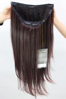 Haarteil, 7 Klammern, Halbperücke, brünett, Länge: ca. 60 cm, H9505-2T33