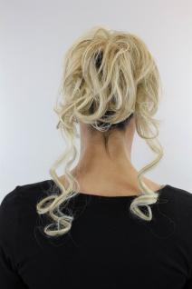 Haarteil Scrunchy Steckkamm voluminös lockig Blond Gesträhnt YZF-3072HT-24H613