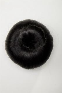WIG ME UP Haarteil Dutt Haarknoten Haardutt 50er 60er Vintage Schwarz N372-2 - Vorschau 2