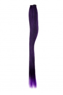 1 Clip-In Extension Strähne Haarverlängerung glatt Lila 45cm YZF-P1S18-1BTT3533