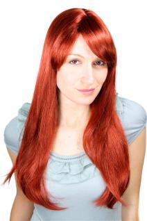 Perücke langhaarig rot kupfer glatte Haare Scheitel 3115-350 ca. 60cm 3115-350