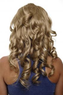 Clip-in Haarteil mit 7 Klammern 3/4 Perücke Blond Honigblond 50 cm H9503-16