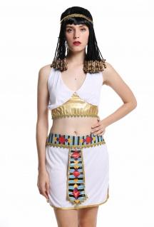 Kostüm Damen Frauen Karneval Ägypterin Kleopatra Cleopatra Pharaonin weiß M - Vorschau 2