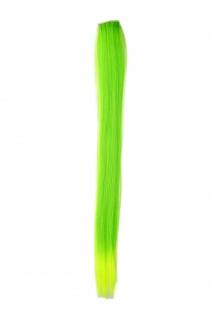 1 Clip-In Extension Strähne Haarverlängerung glatt Grün YZF-P1S18-TF2605TTF2106